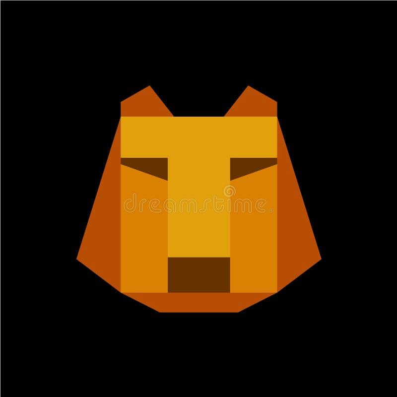 Le visage de tigre avec la lettre de T a adapté le calibre de logo illustration de vecteur