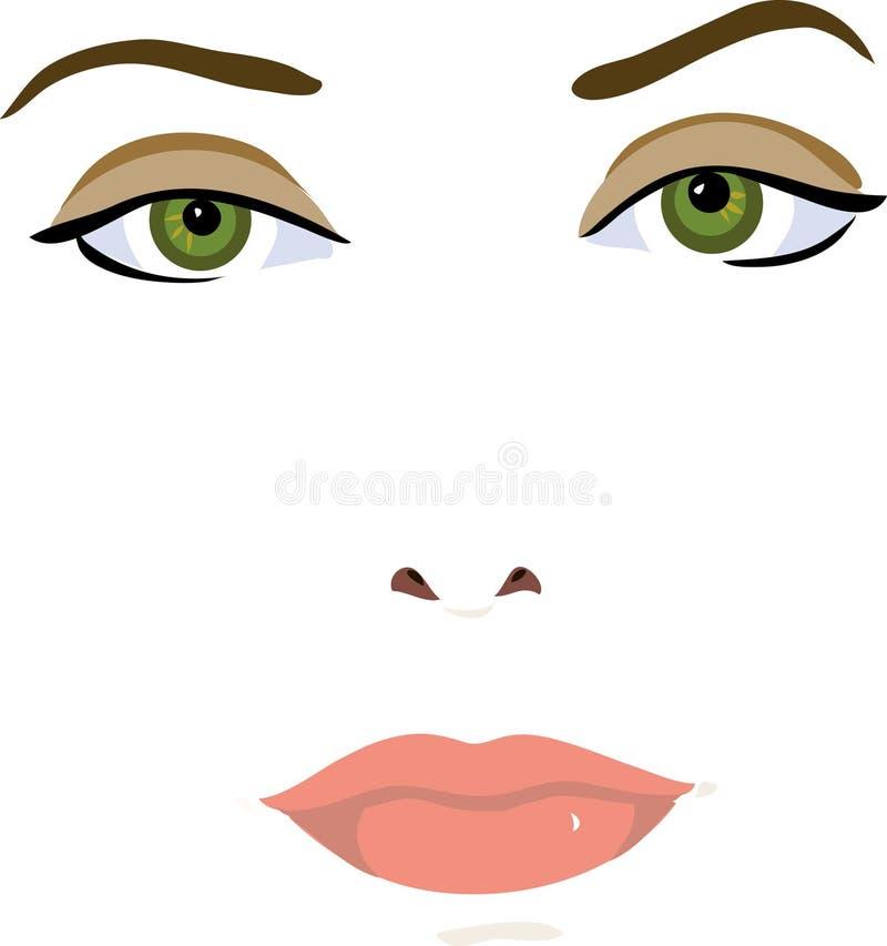 Le visage du femme illustration de vecteur