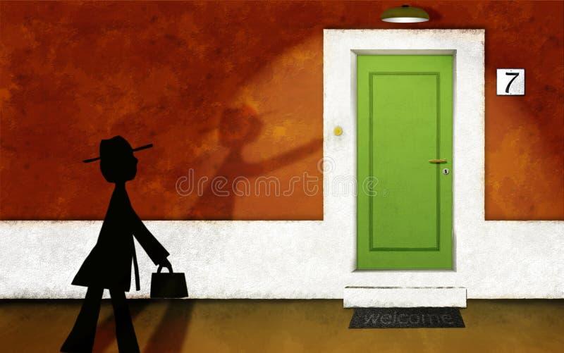 Le visiteur illustration stock