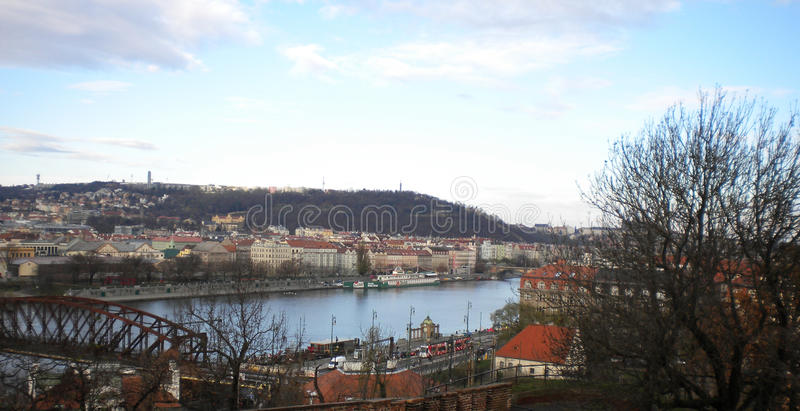 Le Vltava, Prague photo stock