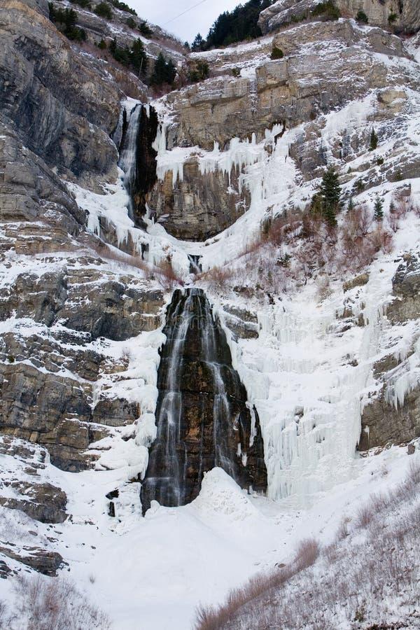 Le voile nuptiale tombe gorge Utah de Provo photographie stock