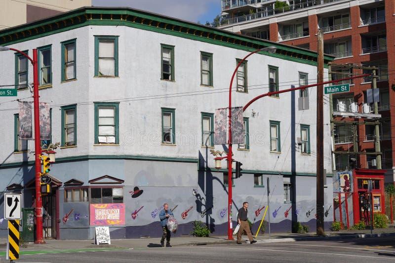 Le voisinage résidentiel le plus ancien de Vancouver photo stock