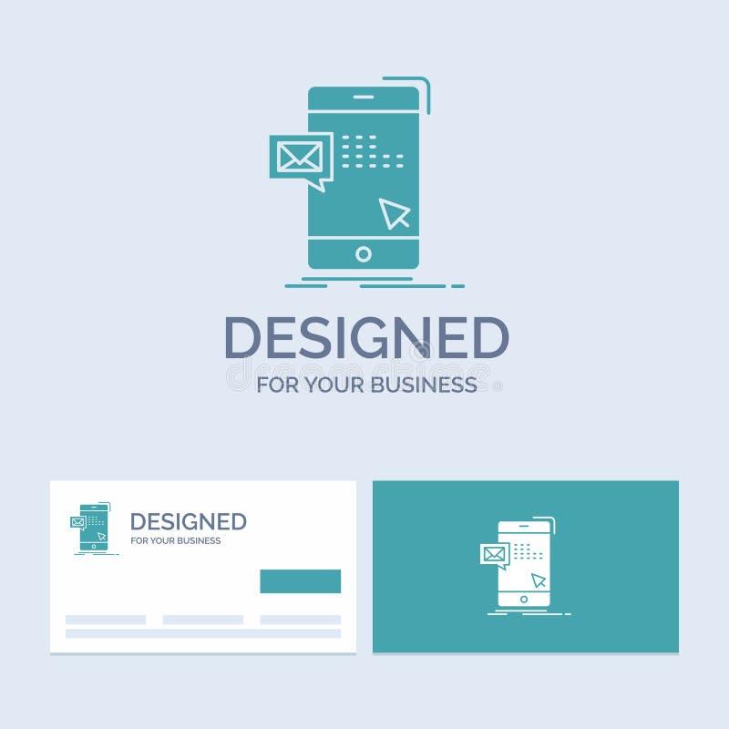 le volume, dialogue, instant, courrier, affaires Logo Glyph Icon Symbol de message pour vos affaires Cartes de visite professionn illustration libre de droits