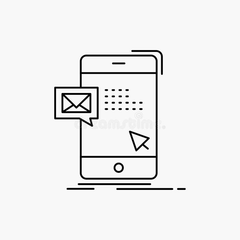 le volume, dialogue, instant, courrier, ligne de message ic?ne Illustration d'isolement par vecteur illustration stock
