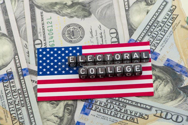 Le vote du collège électoral image stock