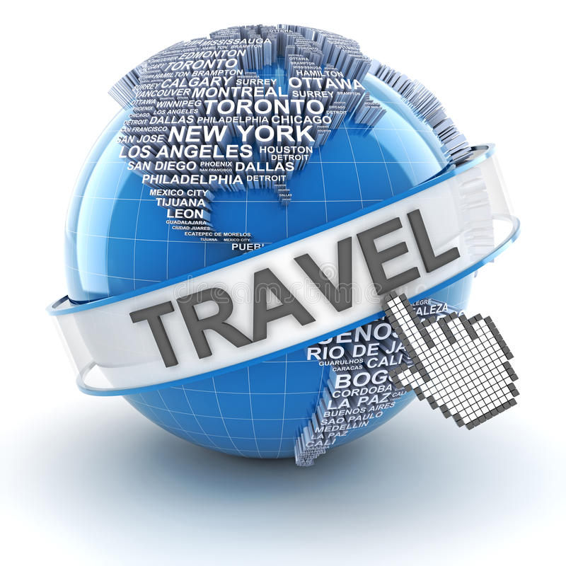 Le voyage global, 3d rendent illustration libre de droits