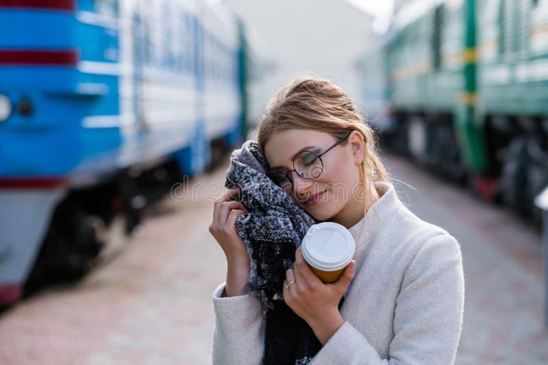 Le voyage incline l'écharpe de vêtements de confort de voyage de tourisme photo libre de droits