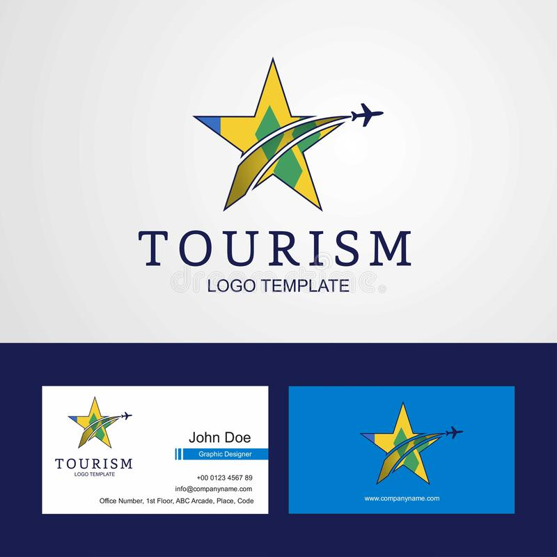 Le voyage Saint Vincent et les grenadines marquent le logo créatif d'étoile et illustration stock