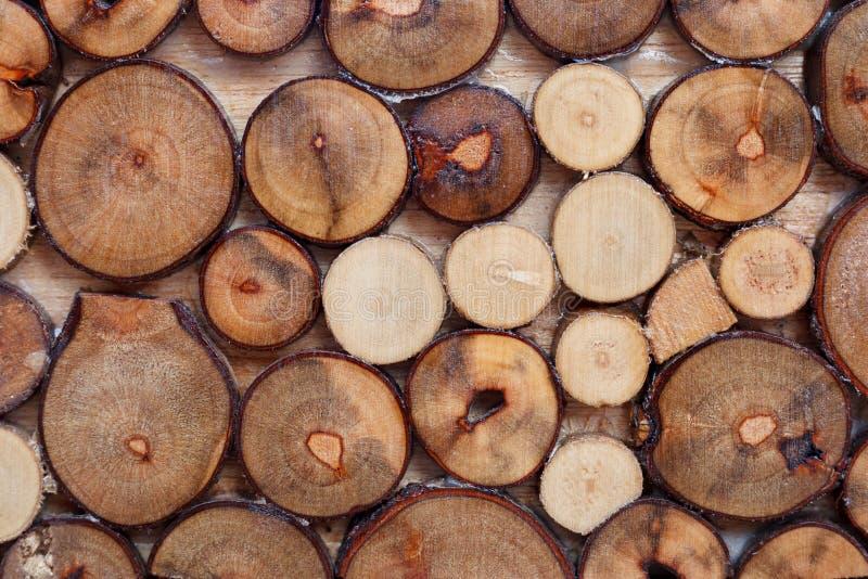 Le vrai bois note le fond de pile photos libres de droits