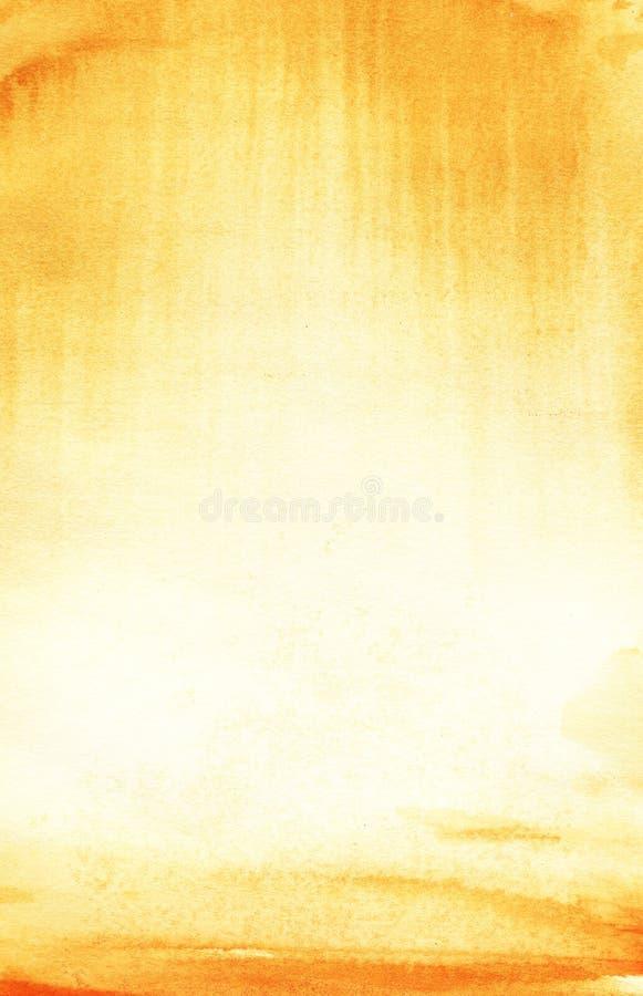Le vrai fond d'aquarelle Ciel à sable jaune et jaune Alle illustration de vecteur