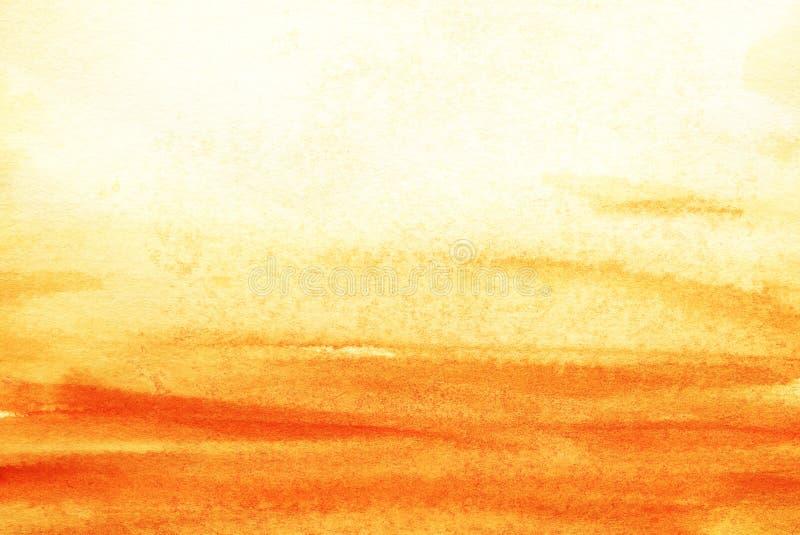 Le vrai fond d'aquarelle Ciel à sable jaune et jaune Alle images stock