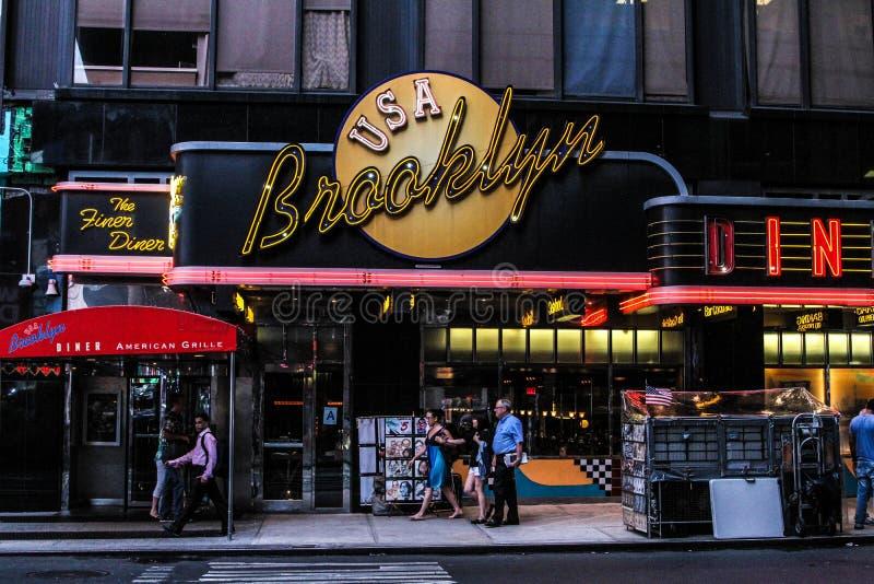 Le wagon-restaurant de Brooklyn, Manhattan, NYC photo stock
