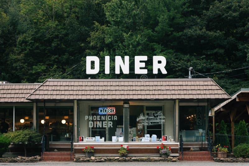 Le wagon-restaurant de Phoenicia, dans le Phoenicia, dans les montagnes de Catskill, New York photos libres de droits