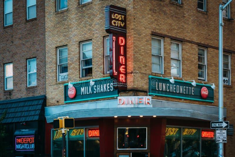 Le wagon-restaurant perdu de ville, dans le nord de station, Baltimore, le Maryland photo libre de droits