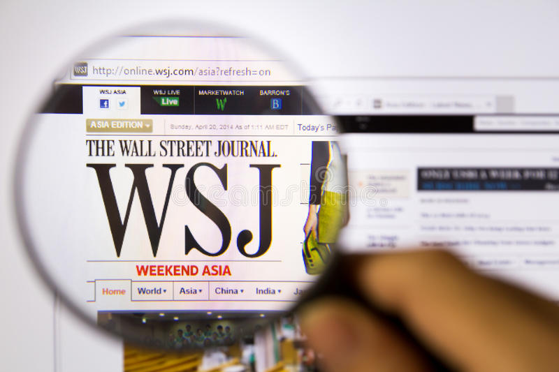 Le Wall Street Journal photographie stock