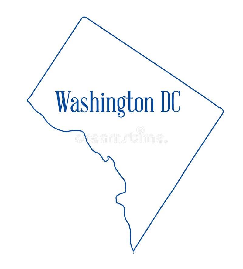 Le Washington DC décrivent la carte illustration stock