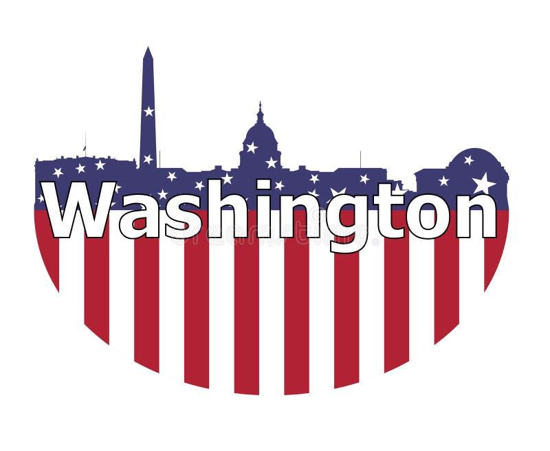 Le Washington DC et le drapeau des Etats-Unis illustration libre de droits