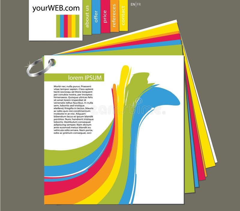 Le Web aiment le livre de la configuration illustration de vecteur