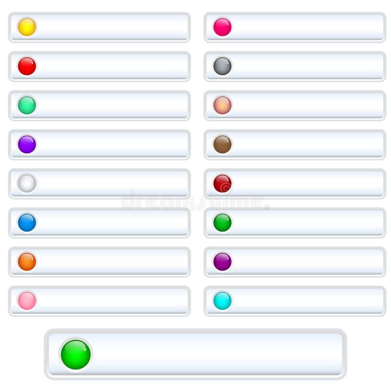 Le Web boutonne le blanc illustration stock