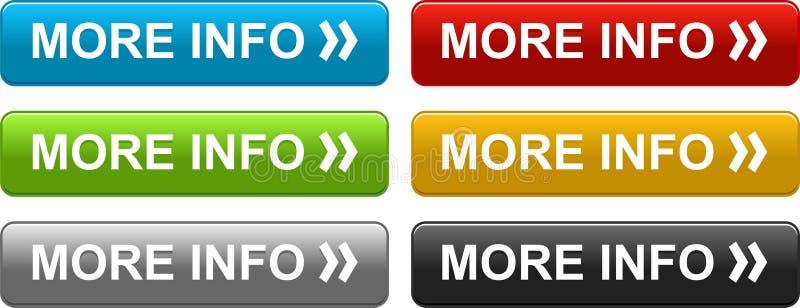 Le Web de plus d'informations se boutonne coloré illustration de vecteur