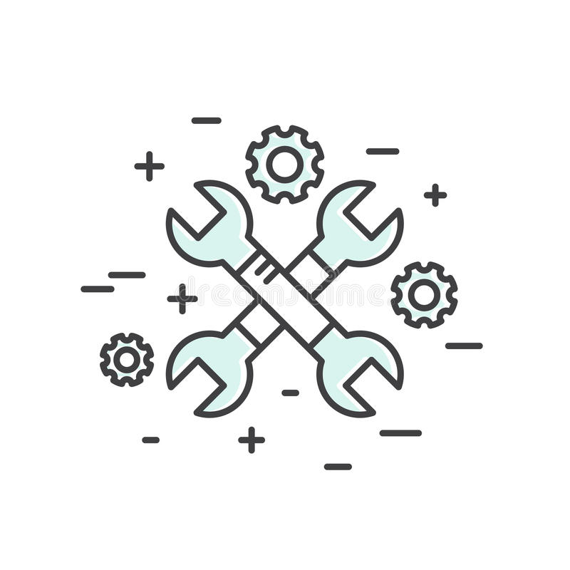 Le Web, le mobile et les instruments de développement et le processus d'APP, ont isolé le concept illustration stock