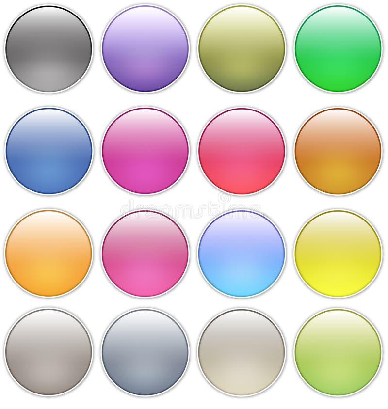 Le Web lustré boutonne des graphismes illustration de vecteur