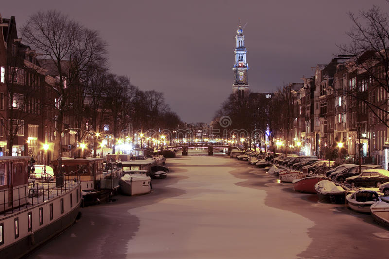 Le Westerkerk en Hollandes d'Amsterdam photo libre de droits
