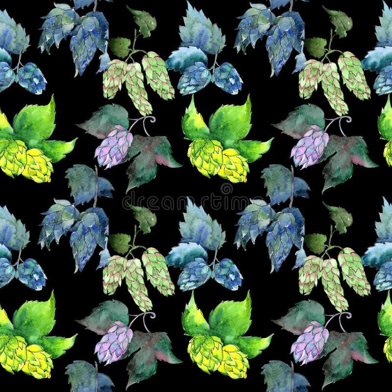 Le Wildflower saute à cloche-pied modèle de fleur dans un style d'aquarelle images libres de droits