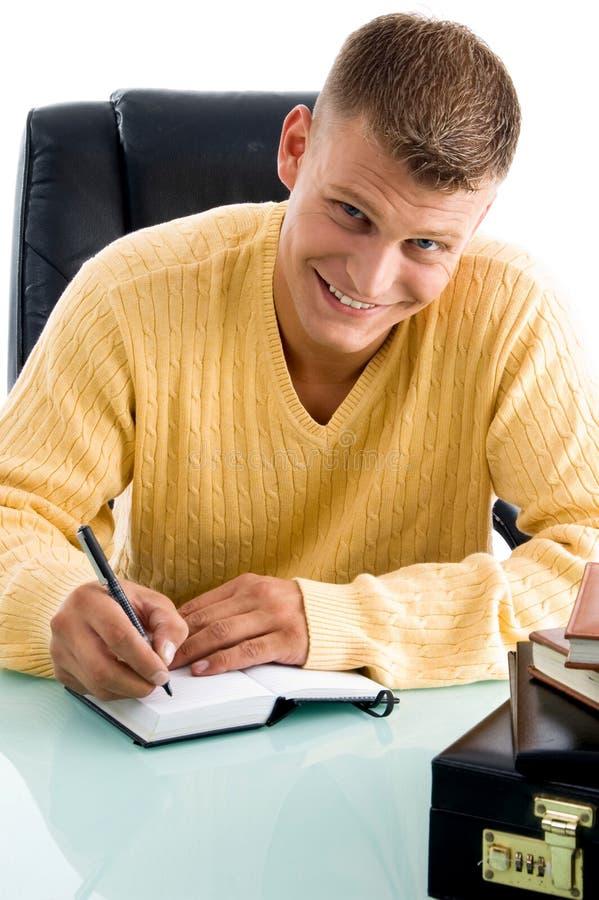 le writing för man arkivfoton