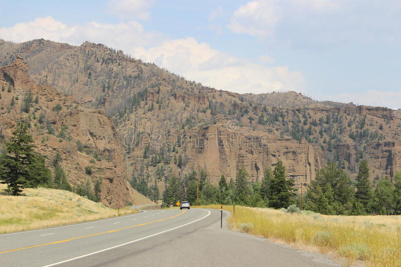 Le Wyoming - montagnes images stock