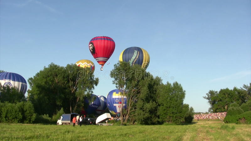 Le Xvi-Th Velikie Luki International Balloon Meet banque de vidéos