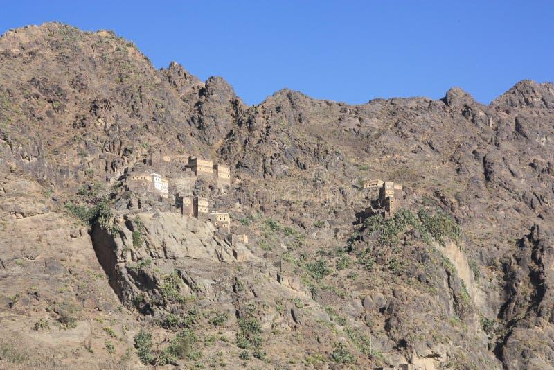 Le Yémen, village de roche images stock