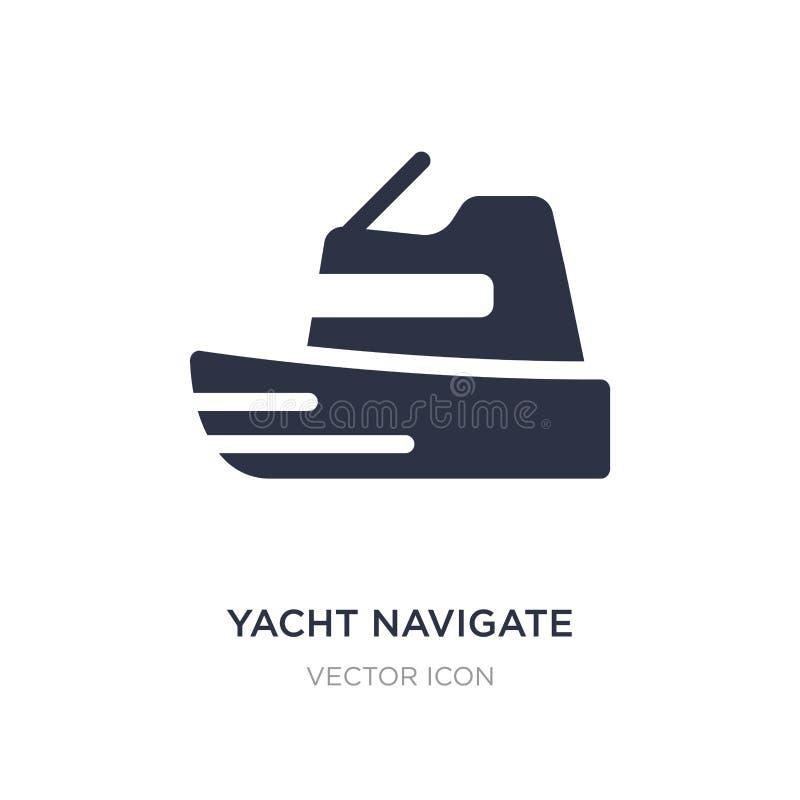 le yacht dirigent l'icône sur le fond blanc Illustration simple d'élément de concept de transport illustration stock