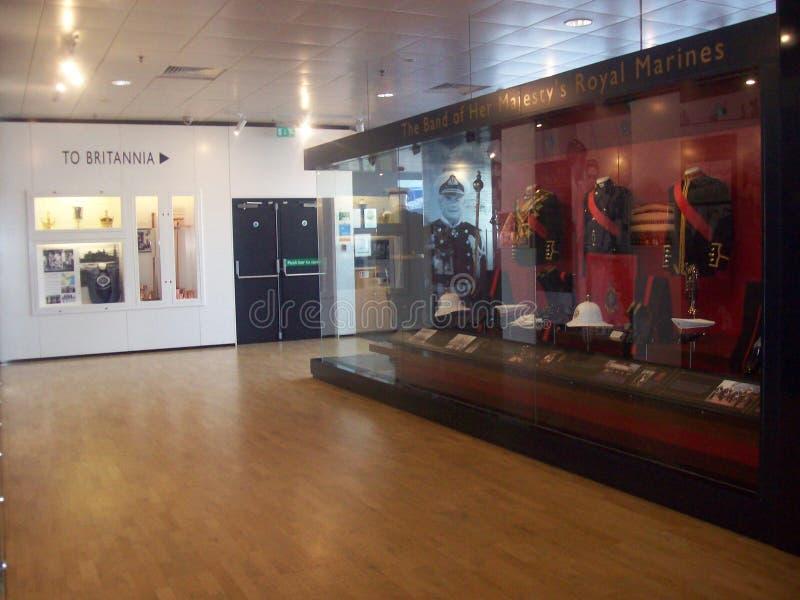 Le yacht royal Britannia, a doit voir l'attraction touristique en visitant Edimbourg, Ecosse image stock