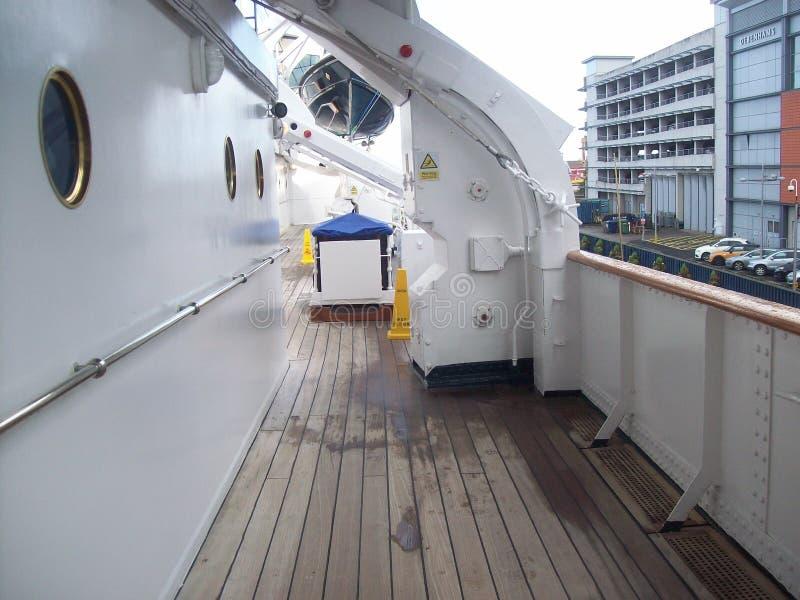 Le yacht royal Britannia, a doit voir l'attraction touristique en visitant Edimbourg, Ecosse images stock