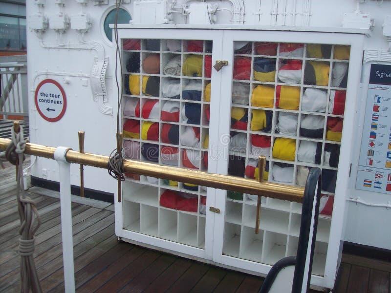 Le yacht royal Britannia, a doit voir l'attraction touristique en visitant Edimbourg, Ecosse photos stock