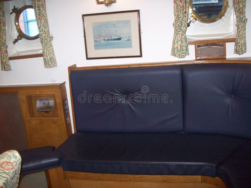 Le yacht royal Britannia, a doit voir l'attraction touristique en visitant Edimbourg, Ecosse photographie stock libre de droits