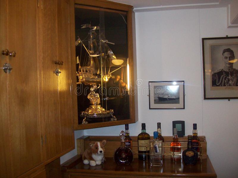 Le yacht royal Britannia, a doit voir l'attraction touristique en visitant Edimbourg, Ecosse images libres de droits