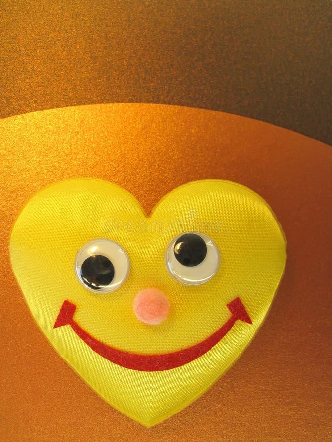 le yellow för hjärta arkivfoton