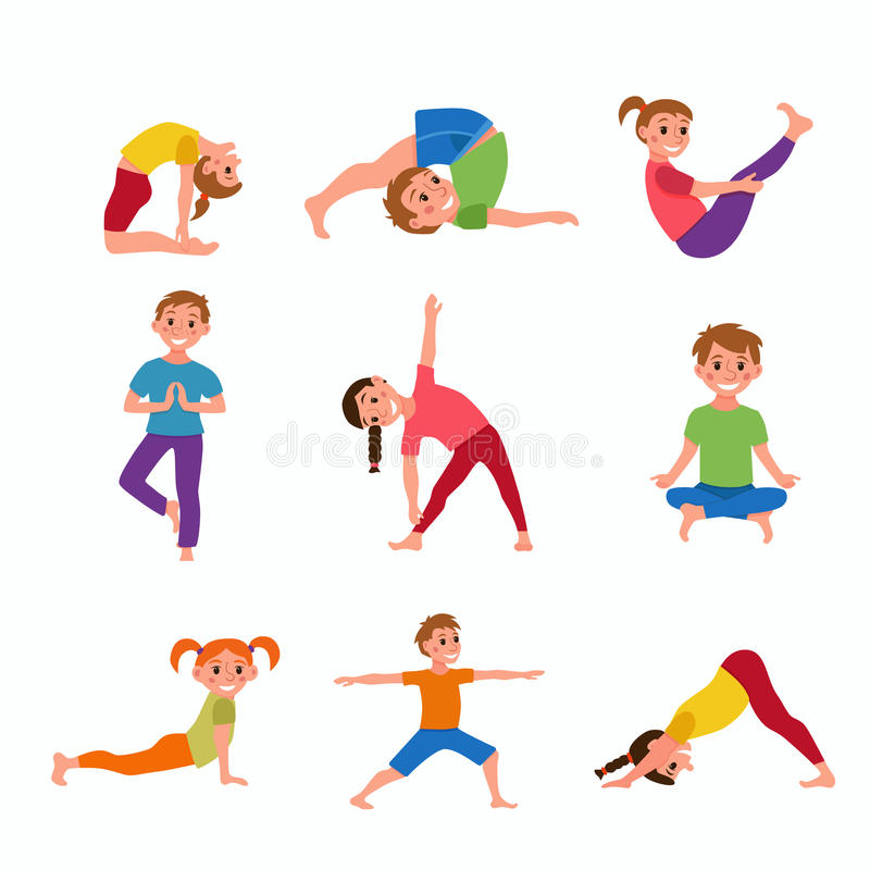 Le yoga badine des poses illustration stock