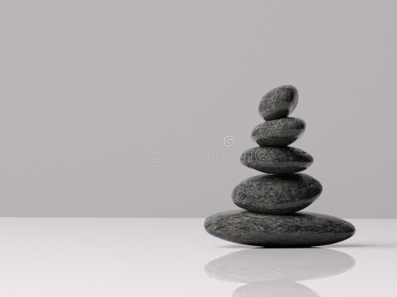 Le zen bascule soigneusement équilibré à l'intérieur avec la pièce pour le type image stock