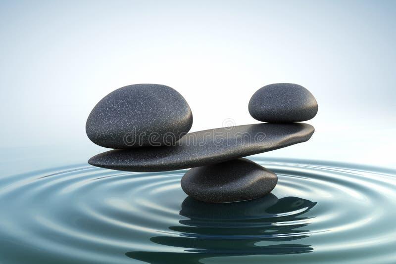 Le zen lapide l'équilibre illustration stock
