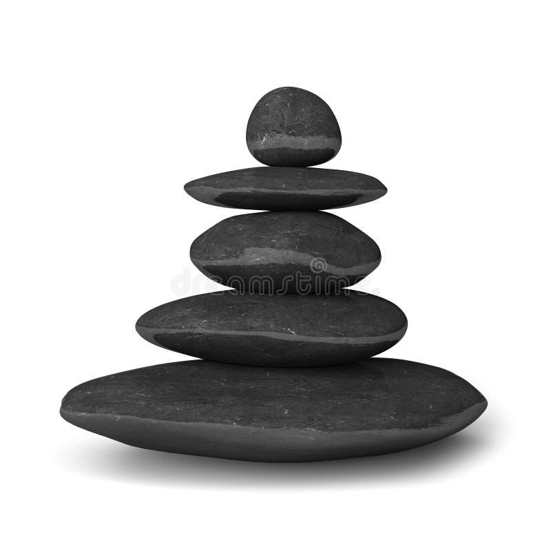 Le zen lapide le concept d'équilibre illustration de vecteur