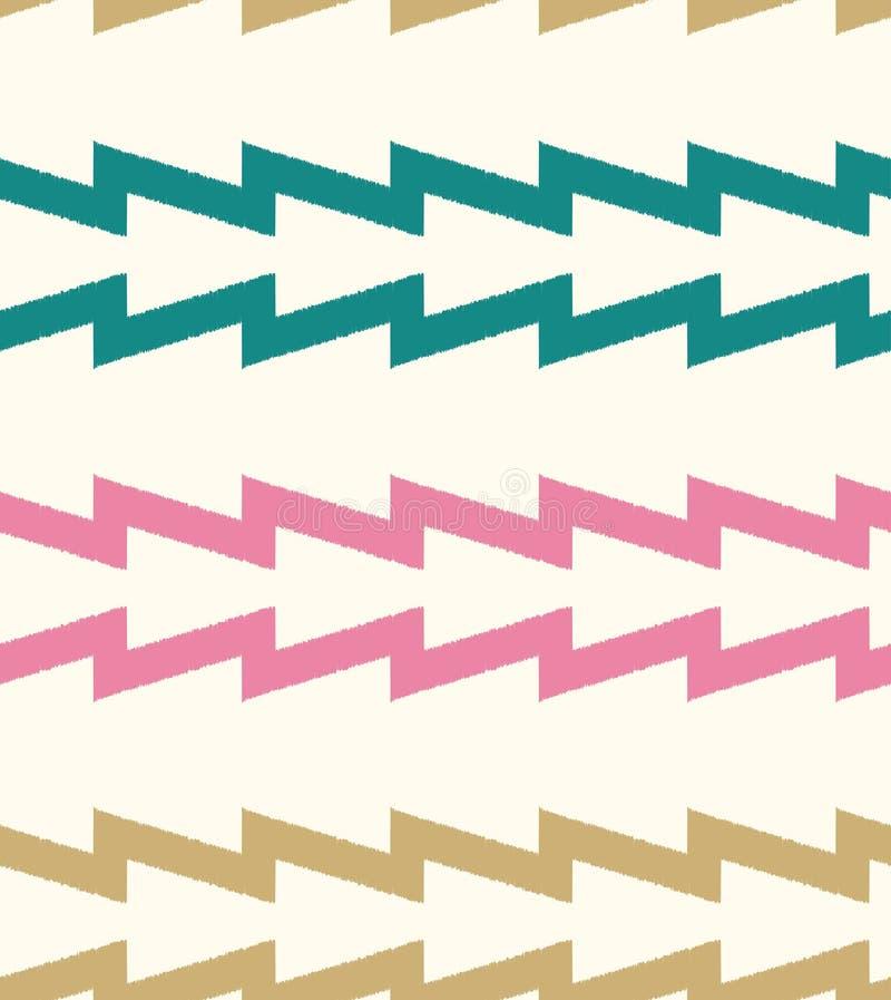 Le zigzag horizontal sans couture barre le modèle illustration stock