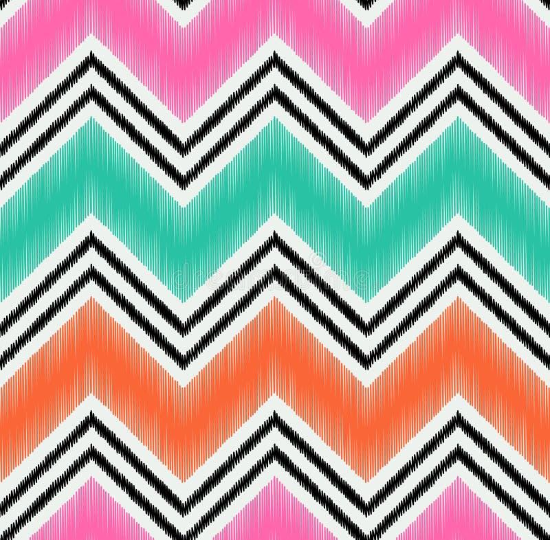 Le zigzag sans couture barre le tissu texturisé illustration de vecteur