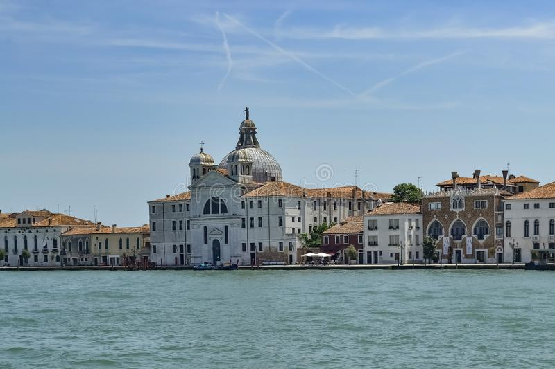 Le Zitelle officially Santa Maria della Presentazione. Giudecca canal ride, Venice, Italy stock photo