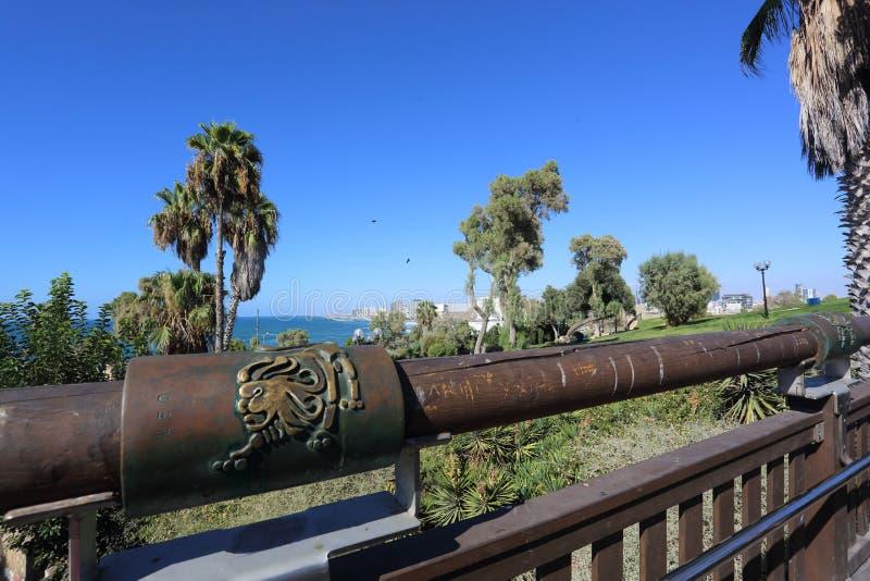Le zodiaque se connectent le pont de souhait Jaffa l'israel photographie stock libre de droits