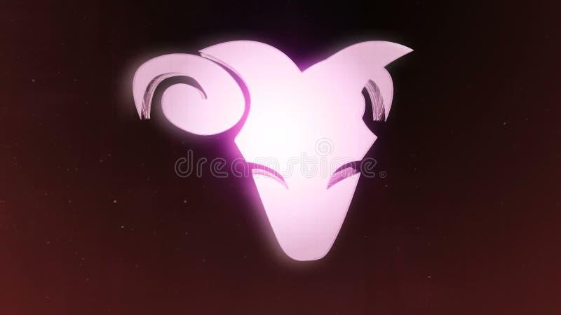 Le zodiaque signe le Bélier et le beau fond pour des présentations, introduction visuelle, horoscope, films, transition, titres e illustration libre de droits