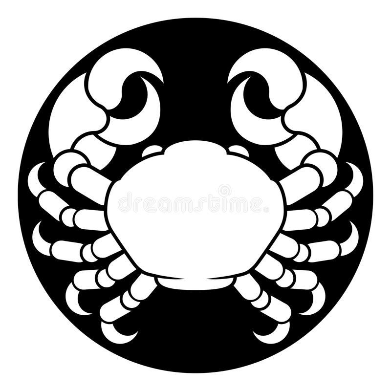 Le zodiaque signe le crabe de Cancer illustration stock
