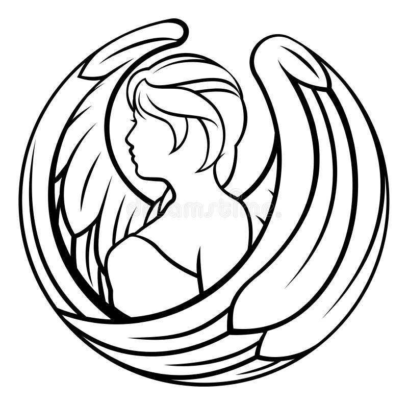Le zodiaque signe l'icône de Vierge illustration libre de droits